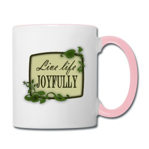Live Life Joyfully - Contrast Coffee Mug