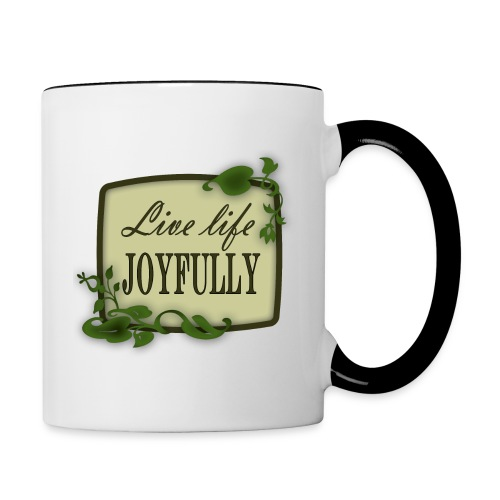 Live Life Joyfully - Contrast Coffee Mug