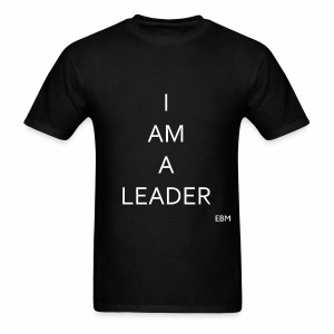 Empowered Black Male Tee: I AM A LEADER  - Men's T-Shirt
