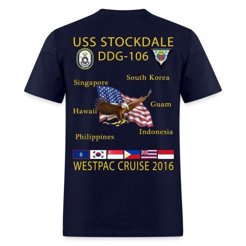 USS STOCKDALE (DDG-106) 2016 CRUISE SHIRT - Men's T-Shirt
