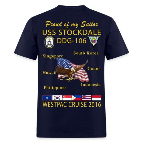 USS STOCKDALE (DDG-106) 2016 CRUISE SHIRT - FAMILY EDITION - Men's T-Shirt