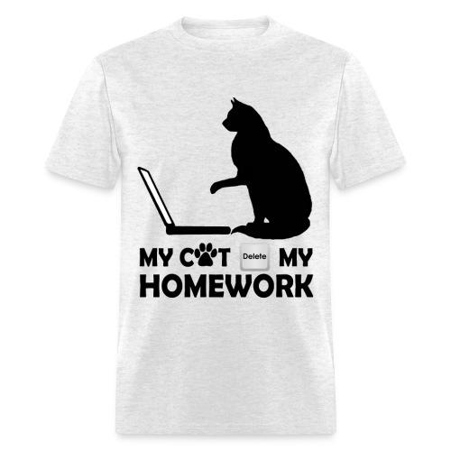 My cat deleted my homework - Men's T-Shirt