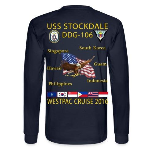 USS STOCKDALE (DDG-106) 2016 LONG SLEEVE CRUISE SHIRT - Men's Long Sleeve T-Shirt