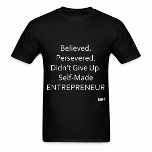 Empowered Black Male Tee: Self-Made ENTREPRENEUR  - Men's T-Shirt