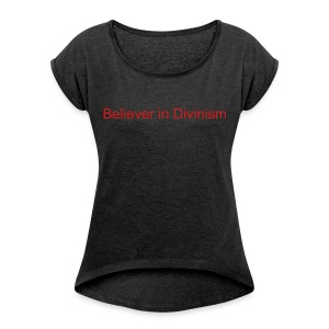 Divinism T Shirt Women's - Black - Women's Roll Cuff T-Shirt