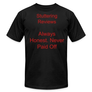 Stuttering Reviews T Shirt Men's - Black - Men's Fine Jersey T-Shirt