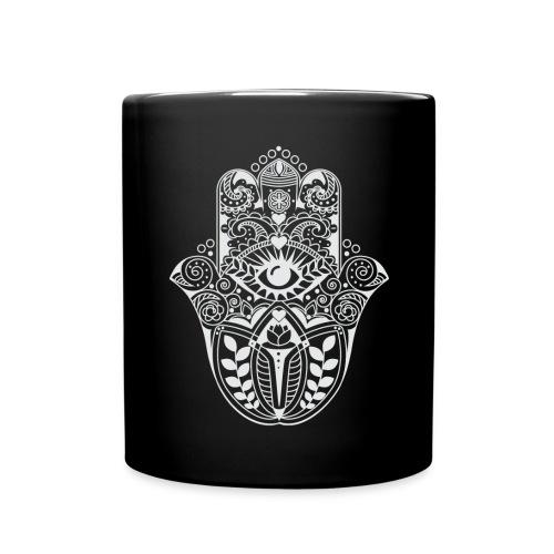 Hamsa hand COFFEE MUG white - Full Color Mug