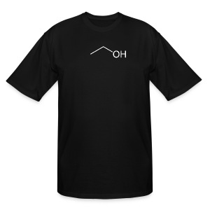Alcohol Molecule - Men's Tall T-Shirt
