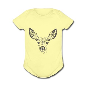 Fawn deer - Short Sleeve Baby Bodysuit
