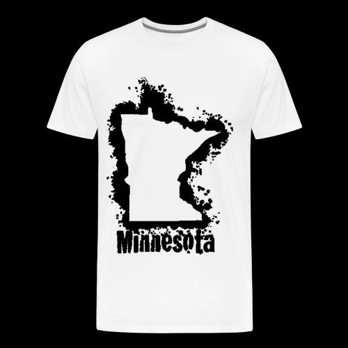 Ashy Black Classic MN Print - Men's Premium T-Shirt