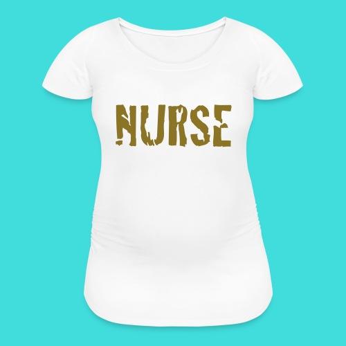 White Distressd Nurse Women's Maternity T-Shirt - Women's Maternity T-Shirt