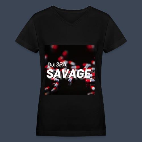 Women's Savage Song Cover V-neck  - Women's V-Neck T-Shirt