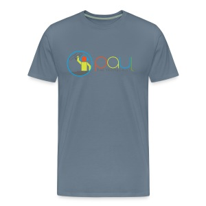 Paul The Trombonist Logo Blended with shirt color - Men's Premium T-Shirt