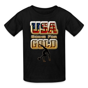 USA Going For GOLD Gymnastics Kids T-Shirt - Kids' T-Shirt