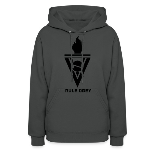 OBEY UNDER GOD HOODIE (SPACE GREY) - Women's Hoodie
