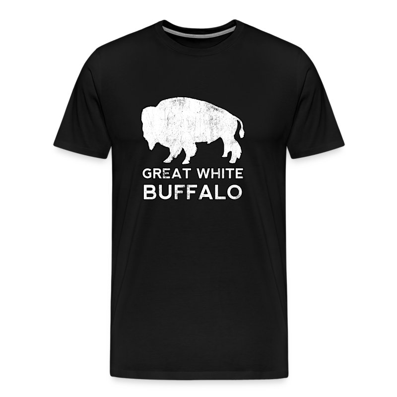 Great white buffalo t shirt spreadshirt for Good white t shirts