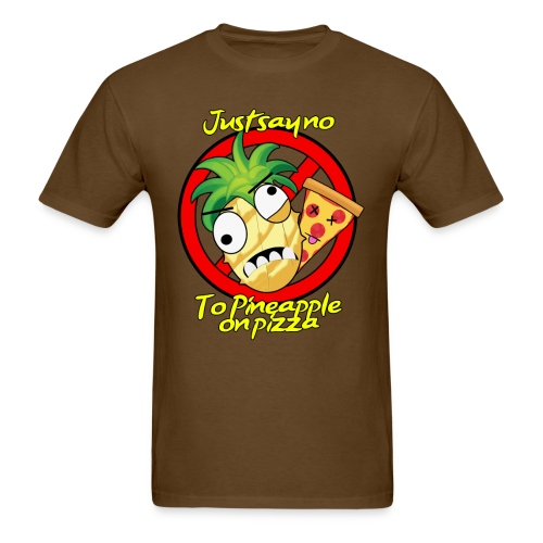 say no to pineapple pizza. Men's shirt - Men's T-Shirt
