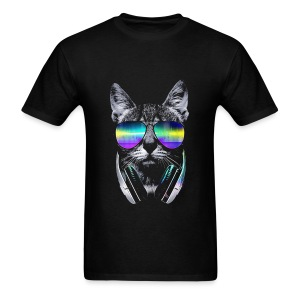 Psychedelic Kitty  - Men's T-Shirt