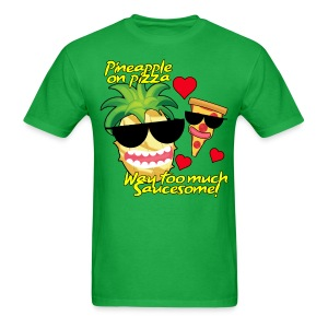 Pizza and Pineapple BFFs. Men's shirt - Men's T-Shirt