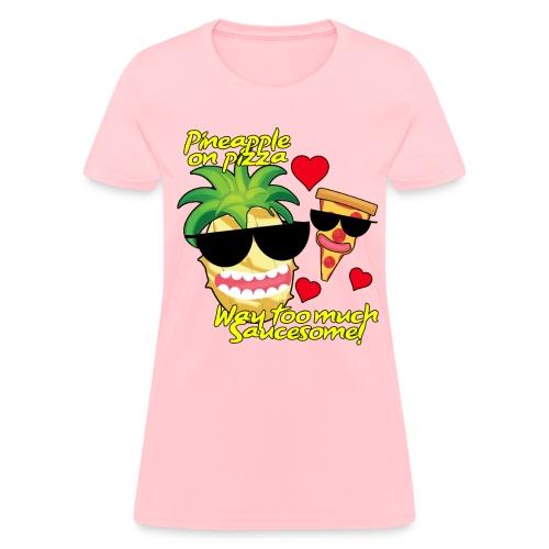 Pizza and Pineapple BFFs. Women's shirt - Women's T-Shirt