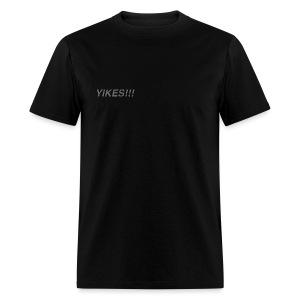 Men's Black Classic YIKES!!! T-Shirt - Men's T-Shirt