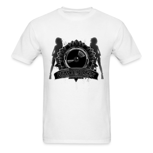 Drop Vinyl (White) - Men's T-Shirt