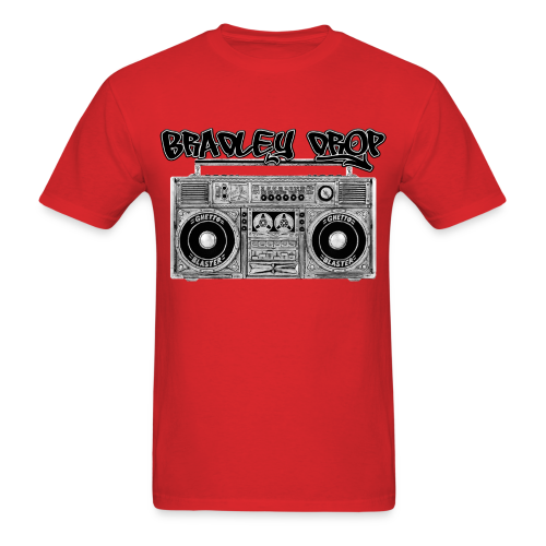 Drop That Ghetto Blaster (Red) - Men's T-Shirt