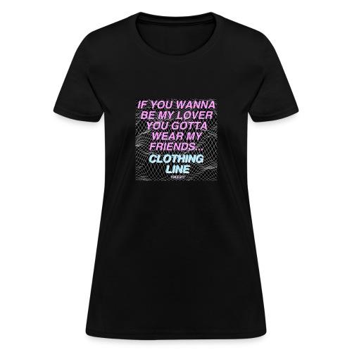 Women's Black Clothing Line T-Shirt - Women's T-Shirt