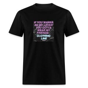 Men's Black Clothing Line T-Shirt - Men's T-Shirt