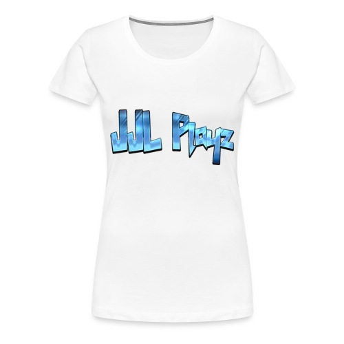 JJL Playz Women's Premium T-Shirt - White - Women's Premium T-Shirt