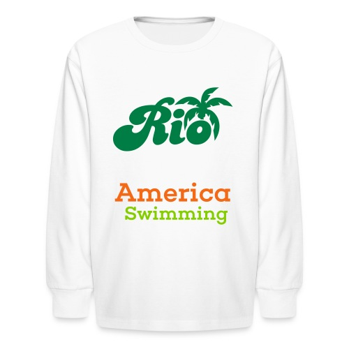 Rio America Swimming  - Kids' Long Sleeve T-Shirt