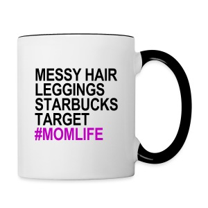 #MOMLIFE Coffee Cup - Contrast Coffee Mug