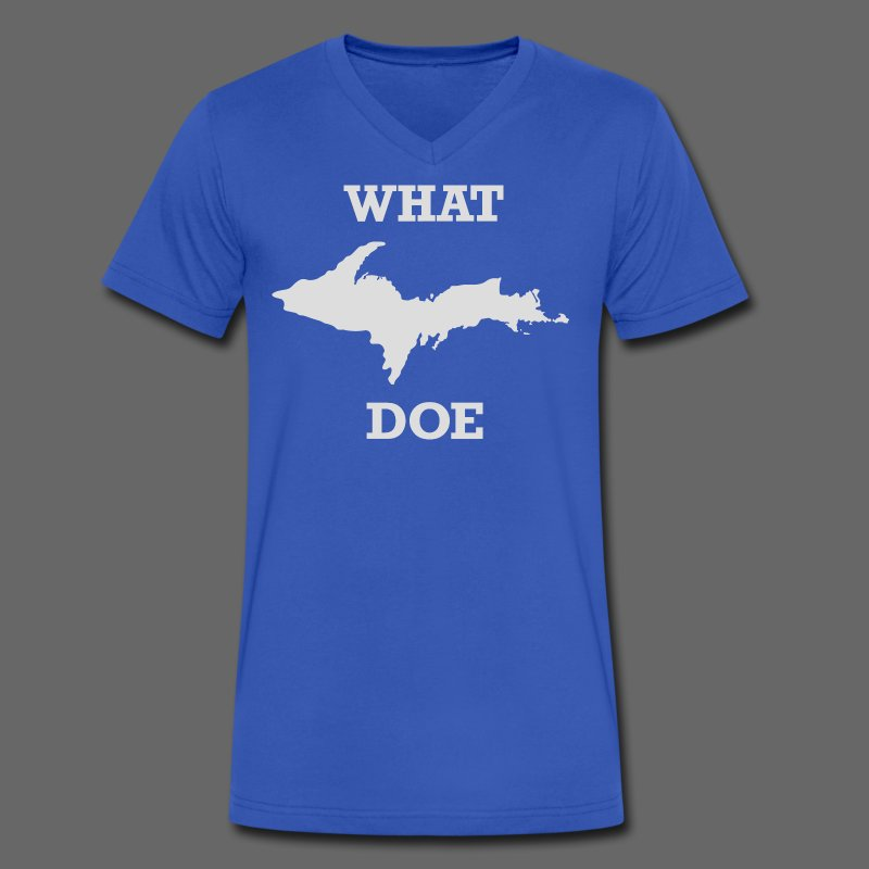 What U.P. Doe - Men's V-Neck T-Shirt by Canvas