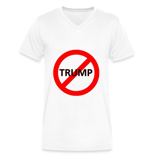 Stop TRUMP Men's V-Neck T-Shirt - Men's V-Neck T-Shirt by Canvas