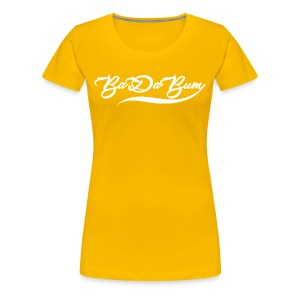 Women's Script BaDaBum Premium T-shirt (All colors) - Women's Premium T-Shirt