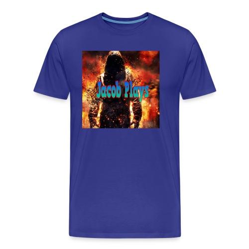 Jacob Plays Mens T-Shirt Blue - Men's Premium T-Shirt