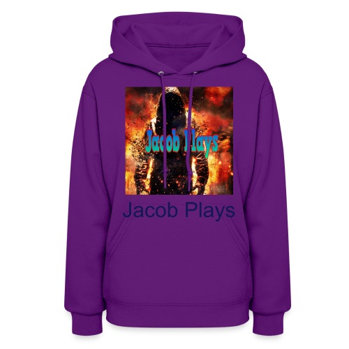 Jacob Plays Womens Hoodie Red - Women's Hoodie