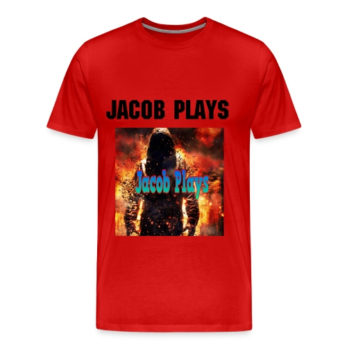 Jacob Plays Mens Shirt Red - Men's Premium T-Shirt