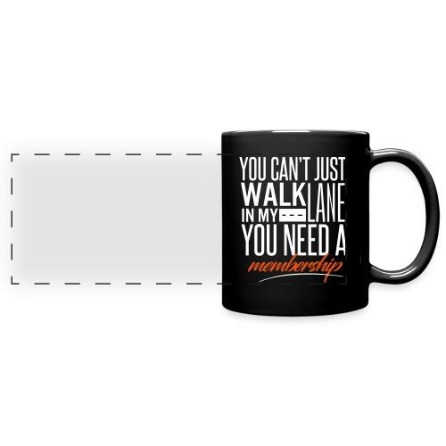 Black Member's Only Mug - Full Color Panoramic Mug