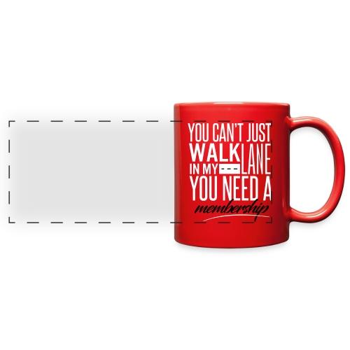 Red Member's Only Mug - Full Color Panoramic Mug