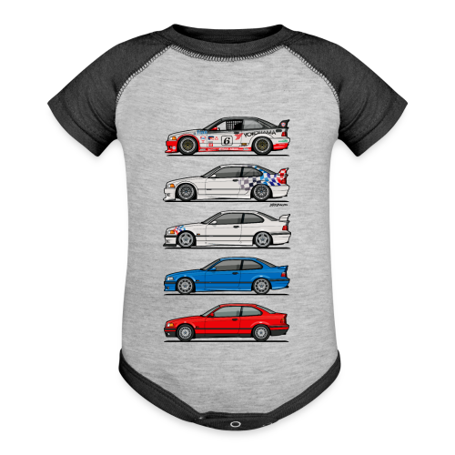Stack of E36 coupes - Contrast Baby Bodysuit