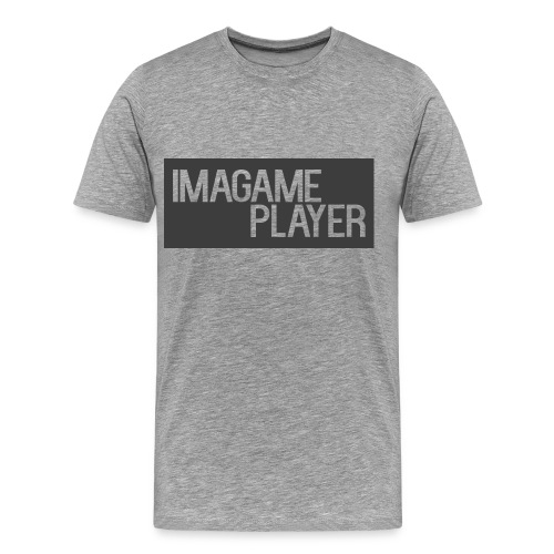 ImaGamePlayer T-Shirts (Gray Logo) - Men's Premium T-Shirt