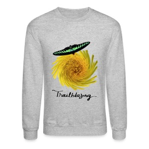 Awesome Fun Trailblazer Gray Crewneck Sweatshirt - Crewneck Sweatshirt