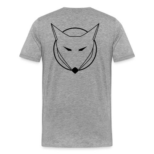FOXAL Men's Premium T - Black Logo - Men's Premium T-Shirt