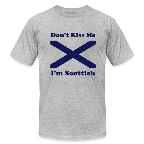 Don't Kiss Me I'm Scottish - Men's  Jersey T-Shirt