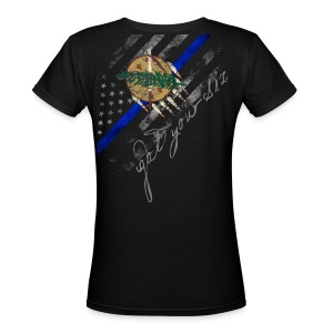 Got Your Six Oklahoma Law Enforcement Support T-Shirt - Women's V-Neck T-Shirt