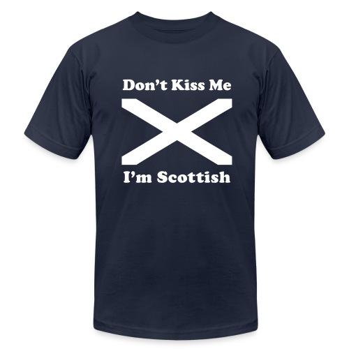 Don't Kiss Me I'm Scottish - Men's Fine Jersey T-Shirt