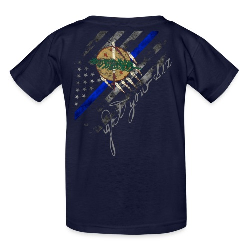 Got Your Six Oklahoma Law Enforcement Support T-Shirt - Kids' T-Shirt