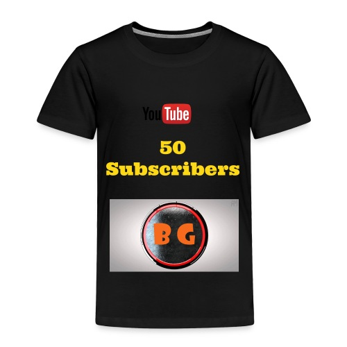 Kid's 50 Subscriber Special T-Shirt - Toddler Premium T-Shirt
