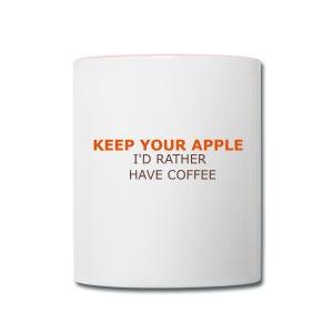 Keep Your Apple - Contrast Coffee Mug